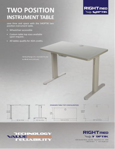 TWO POSITION INSTRUMENT TABLE