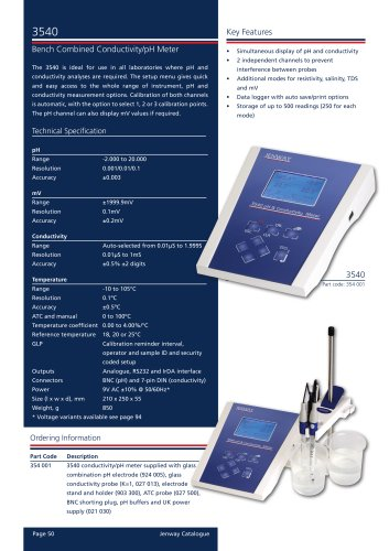 3540 Bench Combined Conductivity/pH Meter
