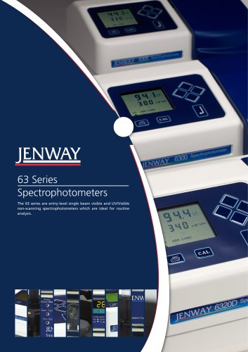 6300 and 6320D Visible and 6305 UV/Vis Spectrophotometers