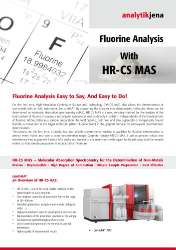 Flyer Non-Metal Analysis Using HR-CS-MAS