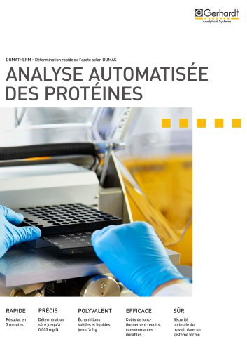 ANALYSE AUTOMATISEE DES PROTEINES