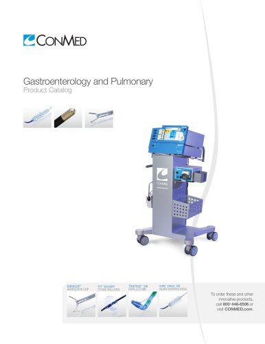 Gastroenterology and Pulmonary Product Catalog