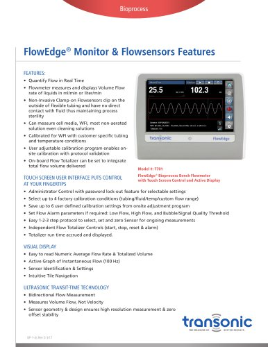 FlowEdge® Monitor & Flowsensors Features