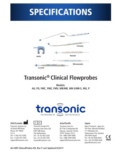Transonic® Clinical Flowprobes