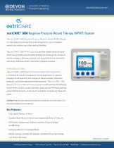 extriCARE® 3600 Negative Pressure Wound Therapy (NPWT) System