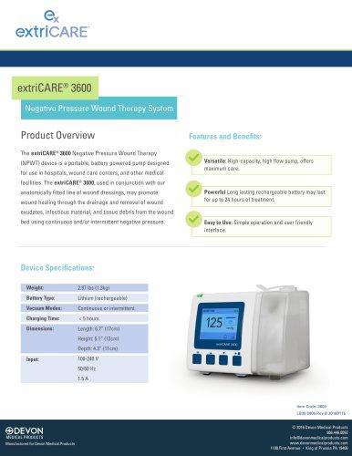 extriCARE® 3600 Pump