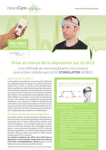 Prise en charge de la dépression par la tDCS avec le DC-STIMULATOR MOBILE