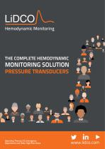 THE COMPLETE HEMODYNAMIC MONITORING SOLUTION PRESSURE TRANSDUCERS