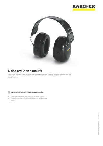 Noise-reducing earmuffs