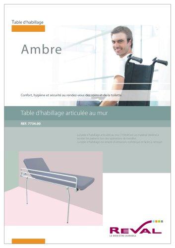 AMBRE - Table d'habillage articulée au mur