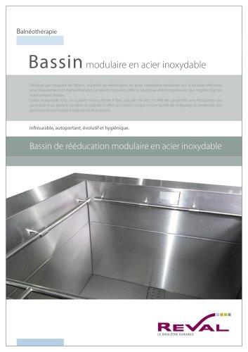 Bassin de rééducation modulaire en acier inoxydable