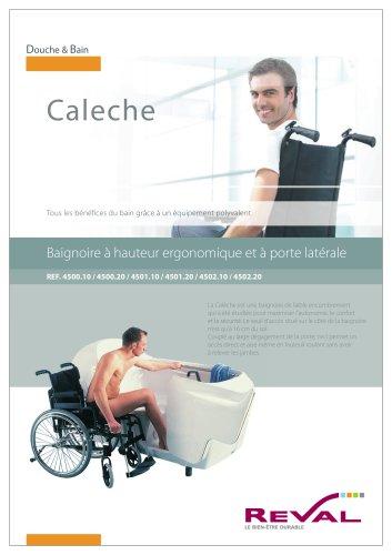 CALECHE - Baignoire à hauteur ergonomique et porte latérale