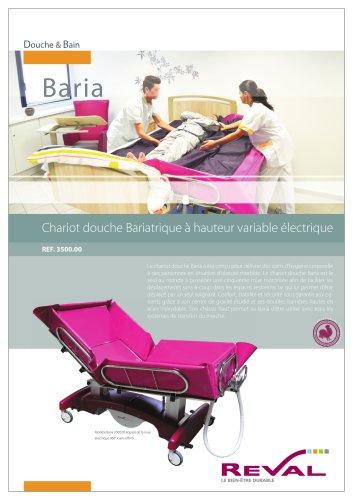 Chariot de douche bariatrique - BARIA