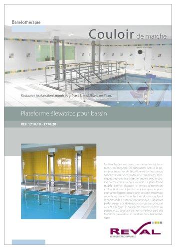 Couloir de marche - Plateforme élévatrice pour bassin
