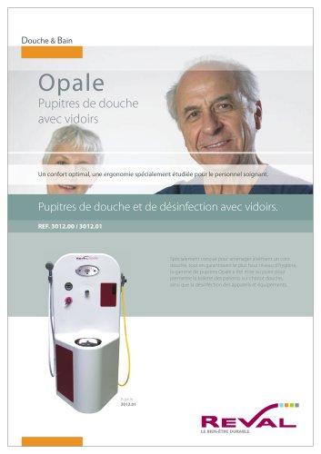 OPALE - Pupitre de douche et de désinfection avec vidoirs