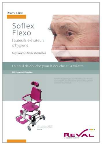 SOFLEX II - Fauteuil de douche & toilette à hauteur variable hydrolique
