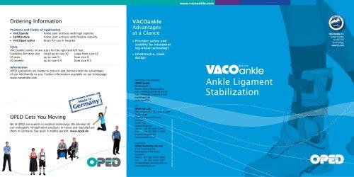VACOankle Brochure