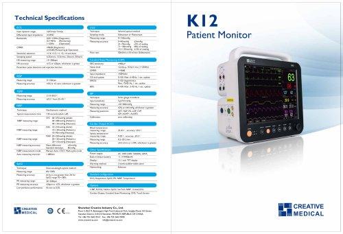 Multi-parameter ECG monitor K12