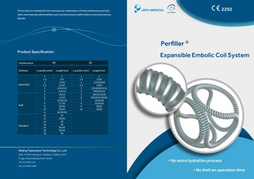 Perfiller Expansible Embolic Coil System