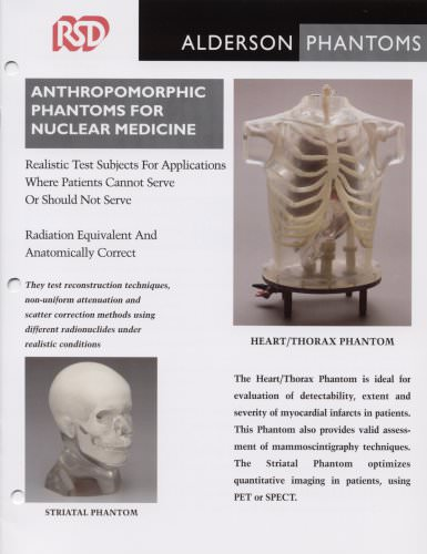 Anthropomorphic phantoms for nuclear medicine