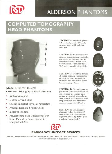 Computed tomography head phantoms