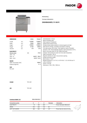DISH WASHER, FI-160 R