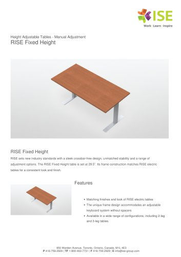 RISE Fixed Height