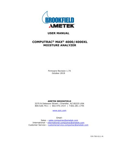 Computrac® MAX® 4000XL