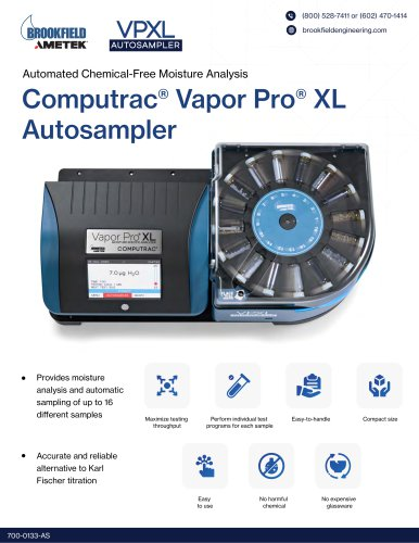 Computrac® Vapor Pro® XL Autosampler